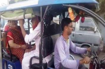 ई-रिक्शे पर सवार हुई मेयर,गलियों की परखी हकीकत