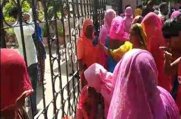 जोधपुर में सफाई कर्मचारियों का उग्र प्रदर्शन