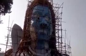 भक्तों ने बनाई शिव की तीस फीट ऊंची इको फ्रेंड्ली प्रतिमा,दर्शन करने लिए जुटने लगी भीड़
