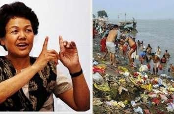 बछेंद्री पाल और उनकी टीम ने पत्थर घाट से शुरू किया गंगा सफाई अभियान