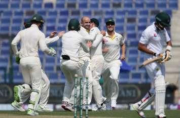 AUS vs PAK Test: नाथन लायन की घातक गेंदबाजी, 6 गेंदों में झटके 4 विकेट