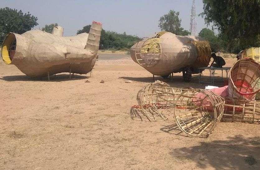 जिला मुख्याल पर 30 फीट तो, सांचौर में 65 फीट ऊंचा होगा रावण का पुतला