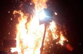 DLW में जलाया गया 70 फीट ऊंचा रावण का पुतला, हुई रामचरित मानस पर आधारित मूक लीला