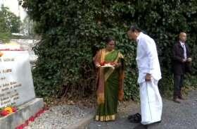 Photos: बेल्जियम में उपराष्ट्रपति वेंकैया नायडू ने महात्मा गांधी को दी श्रद्धांजलि, मूर्ति पर चढ़ाए फूल