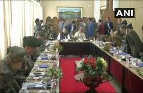 जम्मू-कश्मीर: राज्यपाल सत्यपाल मलिक से मिले राजनाथ सिंह, उच्चस्तरीय बैठक में हुई सुरक्षा स्थिति की समीक्षा