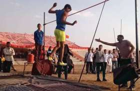 लोहागढ़ स्टेडियम में एथलेटिक्स प्रतियोगिता का आयोजन