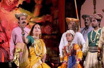 बैलबाड़ी पर सवार होकर आए जाणता राजा, नाटक का मंचन देख मंत्रमुग्ध कनपुरिया
