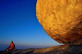 आस्था का प्रतीक बना गोल्डन रॉक, सालों से बिना हिले रहस्यमयी तरीके से बैठा है नोंक पर