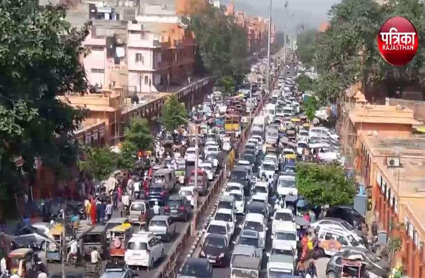 जयपुर में जाम के हालात...निपटने की तैयारी