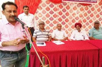 श्रीकरणपुर में कला जत्थे ने दिया अनिवार्य मतदान का संदेश