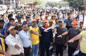 मतदान का उत्साह दिखाने एक साथ दौड़ा पूरा शहर