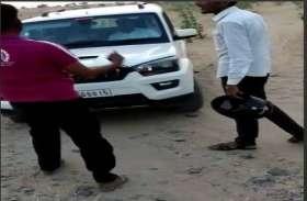 फिर रोकी शेरगढ़ विधायक की गाड़ी, किया पथराव का प्रयास