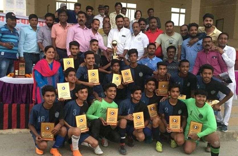 जालोर ने जीता अंडर-17 लड़कों की स्टेट फुटबॉल का खिताब, उधर टीम चयन में धांधली की शिकायत
