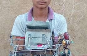 घर में जन्म से नही देखी बिजली, बना डाला बिजली से चलने वाला थ्रेसर का मॉडल