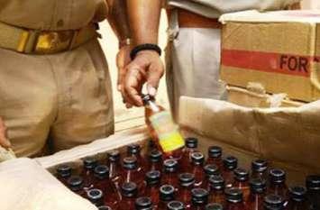 शराब से भरा ट्रक पकड़ा, दिवाली में था खपाना