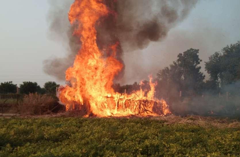 सिलेंडर में विस्फोट एक घंटे चला आग का तांडव