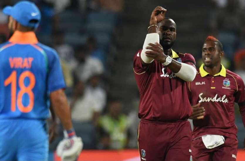 Image result for कप्तान कार्लोस ब्रेथवेट ने गेंदबाजी में अच्छा किया प्रदर्शन