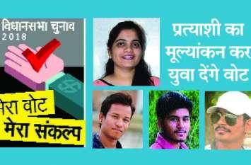 विधानसभा चुनाव : इस बार प्रत्याशी का मूल्यांकन करके युवा देंगे वोट