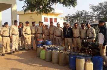 गांव से 3.43 लाख रुपए की अवैध शराब जब्त, नौं लोगों पर प्रकरण दर्ज