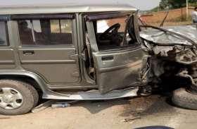 बोलेरो से आमने-सामने भिड़ंत में पिकअप ड्राइवर की दर्दनाक मौत, दूसरा गंभीर रूप से जख्मी