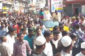 महाजन कांग्रेस के प्रत्याशी, तो ठाकुर सुरेंद्रसिंह ने भी रैली निकाल दिखाई ताकत