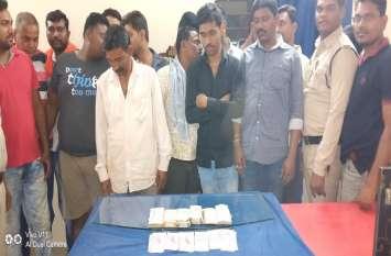 पुलिस ने घेराबंदी कर 16 जुआरियों को पकड़ा, इतने लाख की जब्ती