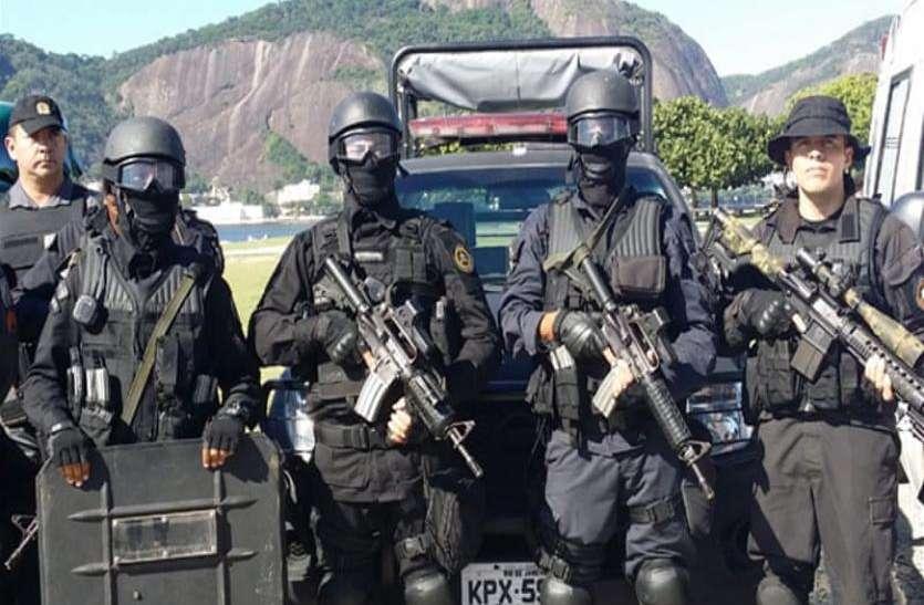 ब्राजील में पुलिस और डकैतों के बीच मुठभेड़, 11 लोगों की मौत