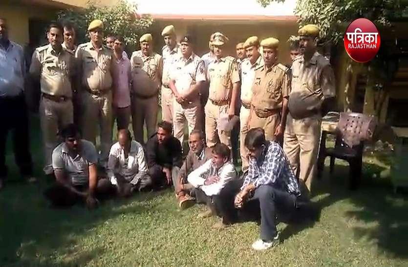 धौलपुर पुलिस ने दिखाई मुस्तैदी...दिवाली के त्यौहार का उठया फायदा ... मुजरिमों की इस तरह की धरपकड़