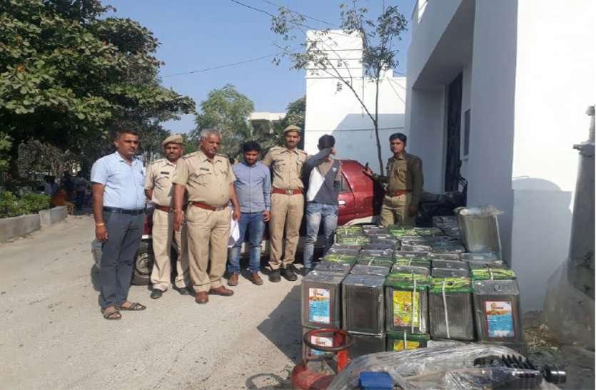 उदयपुर पुलिस ने फैक्ट्री पर छापा मारकर भारी मात्रा में नकली घी पकड़ा.. दो आरोपी गिरफ्तार