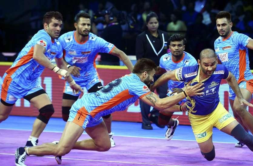 Pro kabaddi league : बंगाल वॉरियर्स ने तेलुगू टाइटंस को दी मात