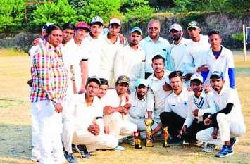 जिला स्तरीय क्रिकेट पुरुष प्रतियोगिता-अग्रणी कॉलेज का खिताब पर कब्जा