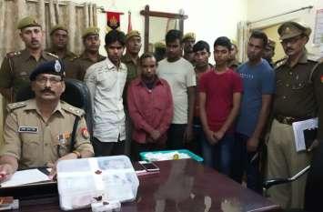 अवैध रूप से भारत में घुसे 5 बंगलादेशी गिरफ्तार, बॉर्डर पार कराने वाला हैंडलर भी पकड़ा गया