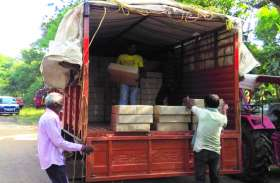 चुनाव में शराब का खेल, आबकारी विभाग की महिला सब इंस्पेक्टर निलंबित 800 पेटी शराब और गाड़ी सीज