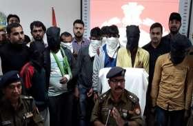 पुलिस मुठभेड़ में 9 ईनामी बदमाश गिरफ्तार, सेना के हैंड ग्रेनेड समेत अवैध असलाह बरामद, देखें वीडियो