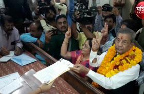 घनश्याम तिवाड़ी ने जयपुर जिले में भरा पहला नामांकन, मुहूर्त के लिए किया 10 मिनट इंतजार
