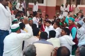 हैदरगढ़ तहसील में भाकियू के हजारों किसानों का धरना, मांगें पूरी न होने से आक्रोश