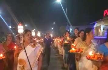 तिरू उत्सवम के समापन पर निकली शोभायात्रा