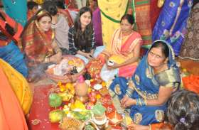 रीवा में सूर्य उपासना का पर्व डाला छठ भोजपुरी समाज के लोगों ने उत्साह पूर्वक मनाया
