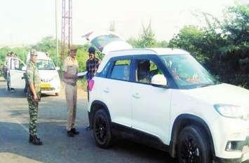 राजस्थान-मध्यप्रदेश सीमा पर मुस्तैद सीआरपीएफ जवान