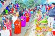चार दिवसीय छठ पूजा सम्पन्न: अलसुबह आतिशबाजी के साथ छठ माता की पूजा
