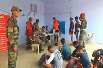 सेना भर्ती रैली में अभ्यर्थियों के पास ड्रग्स-इंजेक्शन मिले