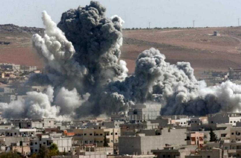 सीरिया: अमरीकी सेना के नेतृत्व में हुआ हवाई हमला, आईएस के 20 आतंकी मारे गए