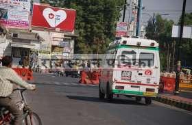 PICS : विधानसभा चुनाव के चलते रोड डाइवर्ट लोगो को परेशानी