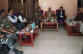 डीजीपी ने चुनाव की देखी सुरक्षा व्यवस्था, पुलिस ऑफिसरों से कहा- चुनावी शिकायत मिलते ही लो एक्शन