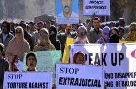 क्वेटा में बलोच कार्यकर्ताओं ने की भूख हड़ताल, पाक सरकार से की गुमशुदा लोगों की रिहाई की मांग