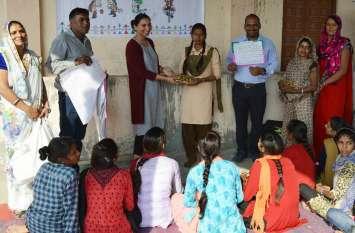 'शादी बच्चों का खेल नही परियोजना' पर कई विषयों पर हुई प्रतियोगिता में बच्चों ने लिया हिस्सा
