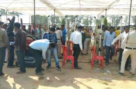Photo Gallery : पीएम मोदी की सभा में पहुंचने से पहले सुरक्षा में तैनात जवानों के सामने हो रही कड़ी परीक्षा