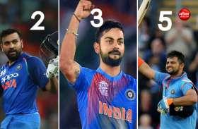 T20 अंतर्राष्ट्रीय में सबसे ज्यादा रन बनाने वाले टॉप-5 भारतीय खिलाड़ी, रोहित दूसरे पर और विराट तीसरे पर