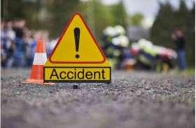 दुर्घटना में तीन बाइक सवार घायल