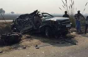 BIG NEWS सगाई से वापस लौट रहे चार युवकों की सड़क हादसे में मौत, चार गंभीर घायल